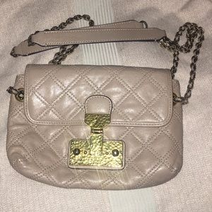 Marc Jacobs Small Quilted Beige Handbag