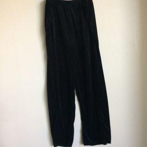 The Paragon Pants - Black Velour Plus Size Pantset (The Paragon) EUC