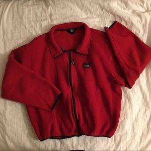 Red LL Bean Fleece Jacket