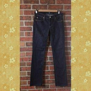 7 FOR ALL MANKIND Straight Leg Jeans Dark Wash 26