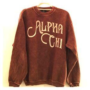 Alpha Chi Omega Corded Crewneck Sweatshirt