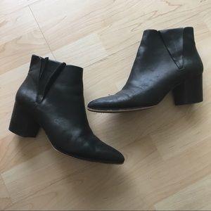 Low heel block booties!