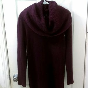 H&M Purple Plum Tunic Cowl Neck Sweater