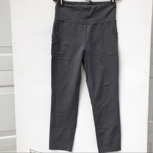 Lululemon will crop pocket pants 6 gray khaki