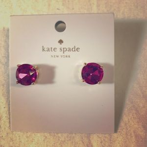 Kate spade gum drop gold tone earrings