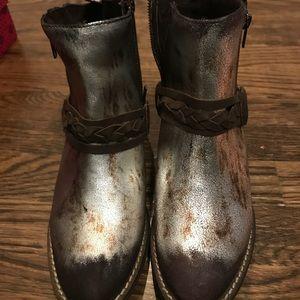 Metallic boots