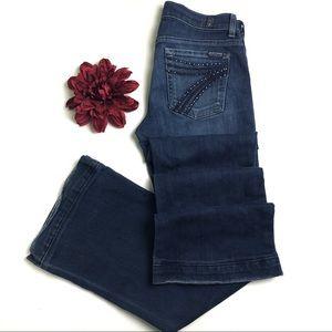 7 For All Mankind Dojo Rhinestone Pocket Jeans