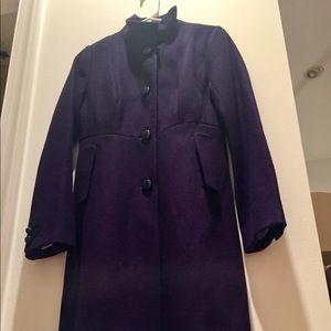 J. Crew Navy Wool Dress-coat! Big blue buttons💙