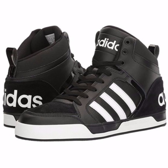 NEW Adidas Black & White Logo Sneakers Ladies 10.5