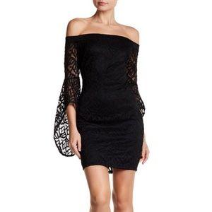 Bebe lace off the shoulder dress