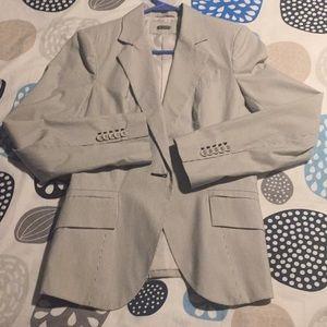 BRAND NEW ZARA lines summer blazer