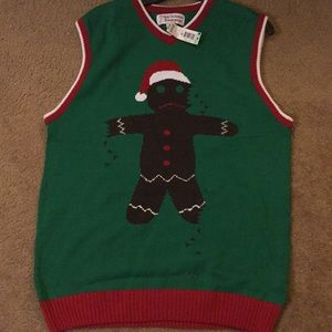 Sweaters - New Christmas Vest Green, Deep Red, Black Size XL