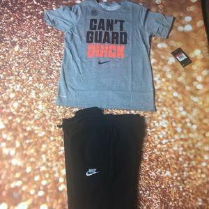 Boys large Nike shirt & sweatpants outfit Large