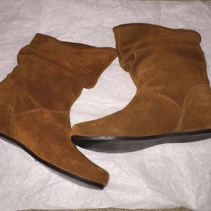 Steve Madden Calliee Suede Ankle Bootie Boots