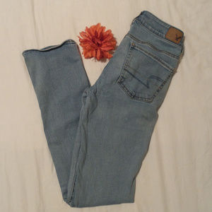American Eagle straight super stretch jeans