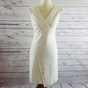 White House Black Market White Asymmetrical Dress