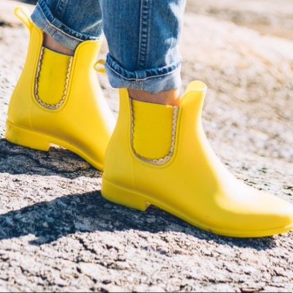 7ae5be57a97129 Jack Rogers Shoes - Jack Rogers Yellow Chelsea Rain Boots