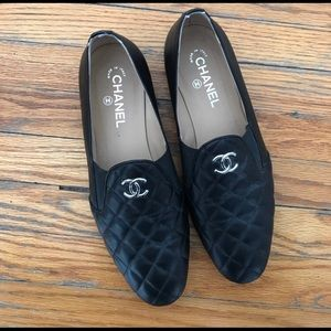 Authentic chanel quilled flats