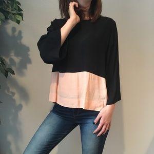 SAM & LAVI colorblock blouse