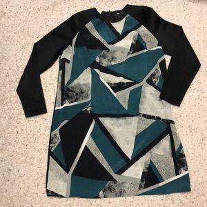 Mossimo long sleeves green black dress XL