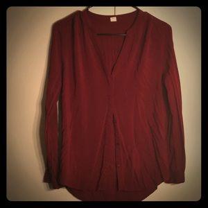 Hidden button down dress shirt