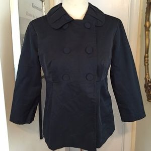 Mossimo Black Jacket Stretch L Double Breasted