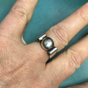 Substantial Rustic Sterling Silver Ring, Size 6.5