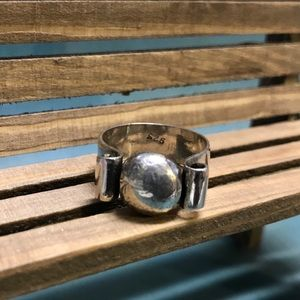 CBL Jewelry - Substantial Rustic Sterling Silver Ring, Size 6.5