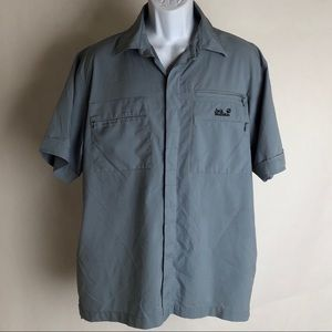 Jack Wolfskin Shirts - Jack Wolfskin Travel Shirt Sz L Blue & Gray