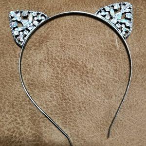 Rhinestone Cat Ear head band