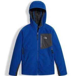 North Face Blue Chimborazo Fleece Hooded Jacket!