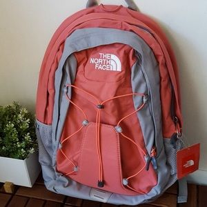 The North Face Jester Backpack, Orange/Gray NWT