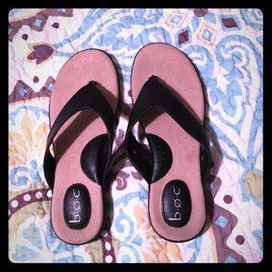 BOC Black Sandal Flip Flops