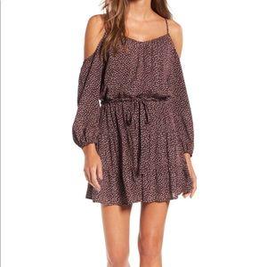 Paige cold shoulder dress