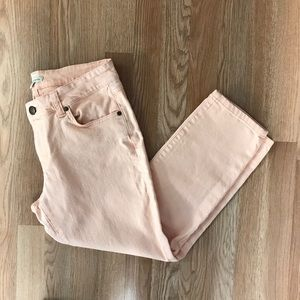 CAbi Cropped Bree Jeans in Creamsicle Style 329