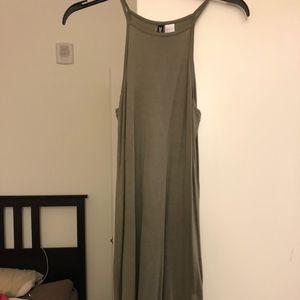 Olive Green Halter Dress