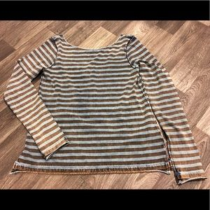 Free People striped shirt with low back
