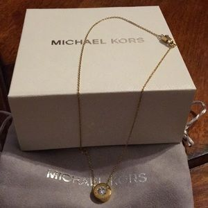 Gold Michael Kors necklace