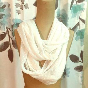 White pattern infinity scarf