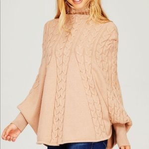 Sweaters - Supersoft Chenille Chunky Cable Poncho