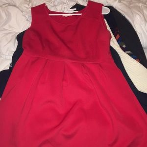 Neoprene red dress