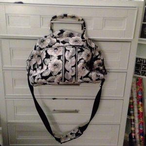 Black and White Vera Bradley Weekender Bag