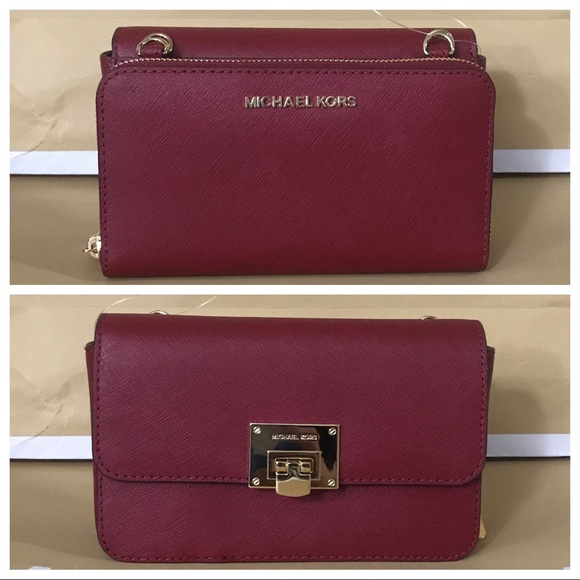 e57a3f437773 NWT MK Tina 2in1 wallet clutch Crossbody- cherry. Listing Price: $189.00
