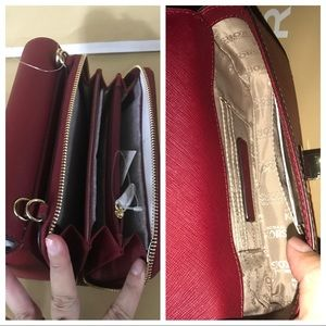 22da39fd04e8 Michael Kors Bags | Nwt Mk Tina 2in1 Wallet Clutch Crossbody Cherry ...