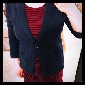 Stretchy Navy Blazer