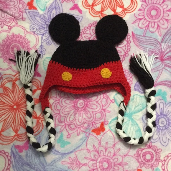 Accessories Handmade Knit Mickey Mouse Hat Poshmark