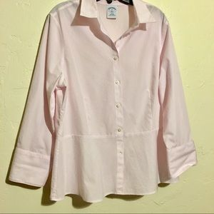 Brooks Brothers Women's Pinstriped Button Down Top