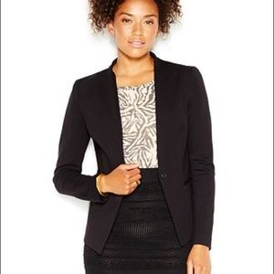 "Rachel Roy Black Collarless ""Ponte"" Blazer M"