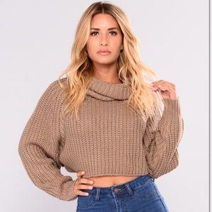 Fashion Nova size S Halina sweater II in Mocha