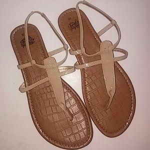 Cream Colored Flat Sandals